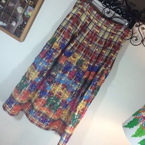 Zara Skirts - Zara Embroidered 🌈 rainbow Maxi Skirt